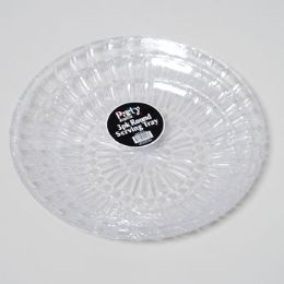 "24 Units of Serving Tray 3pk Clear Round 9.5""/12""/13.5"" In Pdq Bpa Free - Serving Trays"