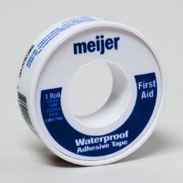 144 Units of Tape First Aid Waterproof .5in X 5yd Meijer - First Aid and Bandages