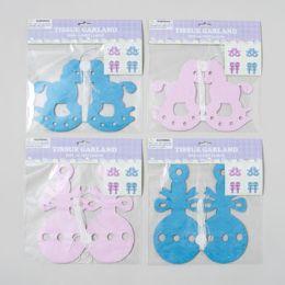 48 Units of 2 Design 12ft Baby Shower Garland Tissue - Baby Shower