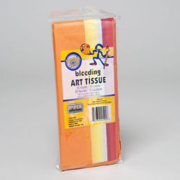 96 Units of Tissue Paper 10 Assorted Colors 20 Sheets - Tissues