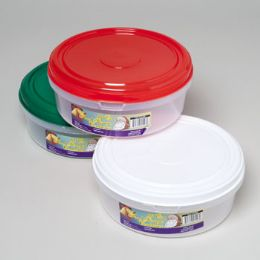 48 Units of Cookie Container Round - Christmas Novelties