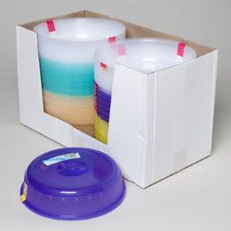 96 Units of Microwave Food Cover 2pk 5 Transparent Colors - Microwave Items