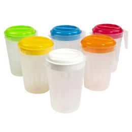 48 Units of 3 Quart Pitcher With Lids - Plastic Drinkware