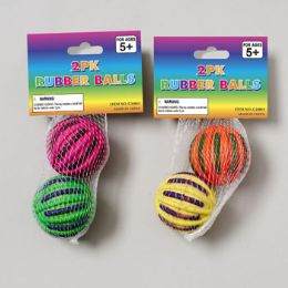 96 Units of 2 Pack Rubber Ball - Balls