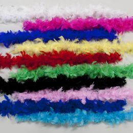 120 Units of Boa Maribu Feather 48in Long 10asst Colors - Costumes & Accessories