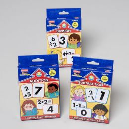 96 Units of Fisher Price Math Flash Cards 4 Title 36 Pages - Card Games