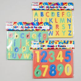 48 Units of Foam Puzzle Alphabet & Numbers 3ast Styles - Crosswords, Dictionaries, Puzzle books