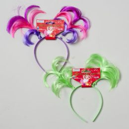 144 Units of Headband Triple Pigtail Solid & Tricolors - Costumes & Accessories