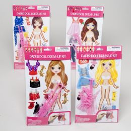 108 Units of Paper Doll Dress Up Playset 4asst Styles - Dolls