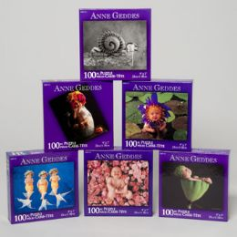 96 Units of Puzzle Anne Geddes 100 Pcs 6 Assorted - Crosswords, Dictionaries, Puzzle books
