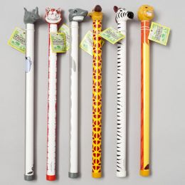 108 Units of Sound Tubes W/animal Heads 6asst - Animals & Reptiles