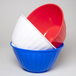96 Units of Serving Bowl Round 12 Inch Red, White, Blue - 4th Of July