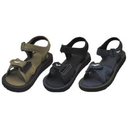 36 Units of Boys Assorted Strap On Sandals - Boys Flip Flops & Sandals