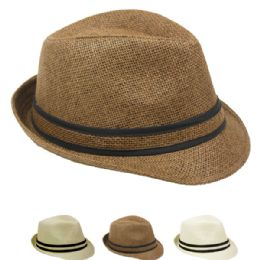 24 Units of Adult Fedora Hat Assorted Colors One Size - Fedoras, Driver Caps & Visor