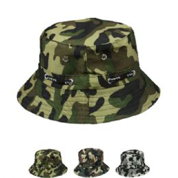 24 Units of Camo Summer Bucket Hat - Bucket Hats