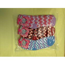 120 Units of Woman Fuzzy Socks Size 9-11 Checkered - Womens Fuzzy Socks