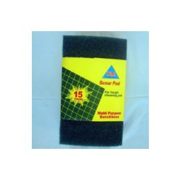 144 Units of 15pc Scouring pad - Scouring Pads & Sponges