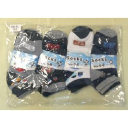 360 Units of Children's Ankle Socks Size:6-8 - Boys Ankle Sock