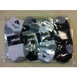 144 Units of MEN ANKLE SOCKS SIZE 10-13 - Mens Ankle Sock