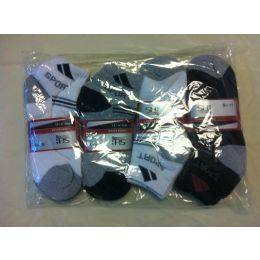 144 Units of MEN ANKLE SOCKS SIZE 9-11 - Mens Ankle Sock