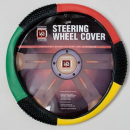 40 Units of Steering Wheel Cover Red/grn/ylw On Peggable Crdbrd Insert