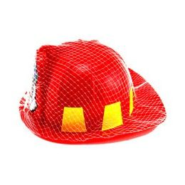 36 Units of Youth Size Fireman's Helmet, Packaged In NeT-Bag With Hang Tag. - Action Figures & Robots