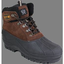 """12 Units of Men""""s Rubber Duck Boots Brown Only - Men's Work Boots"""