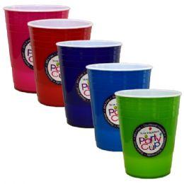 96 Units of Tumbler Colors 16oz - Plastic Drinkware