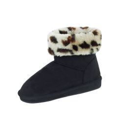 18 Units of Ladies Winter Boot BLACK LEOPARD Size 6-11 - Women's Boots