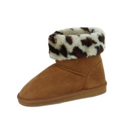 18 Units of Ladies Winter Boot CAMEL/LEOPARD Size 6-11 - Women's Boots