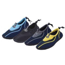 36 Units of Men's Aqua Socks Shoes Assorted Colors - Men's Aqua Socks