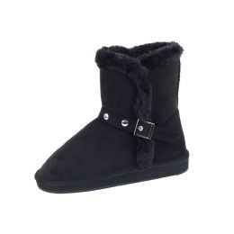 18 Units of Ladies Faux Far Lining Winter Boot Black Color - Women's Boots