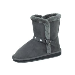 18 Units of Ladies Faux Far Lining Winter Boot GREY Color - Women's Boots