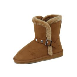 18 Units of Ladies Faux Far Lining Winter Boot CAMEL Color - Women's Boots