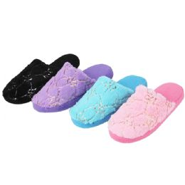 36 Units of Ladies House Slipper Assorted Colors - Women's Slippers