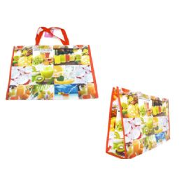 """96 Units of Shopping Bag 19.7x15x6"""" Fruit - Bags Of All Types"""