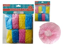 144 Units of 8 Piece Shower Caps - Shower Caps
