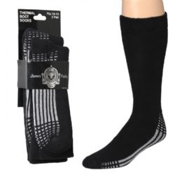 120 Units of Wholesale Men's Heavy Thermal Socks - Mens Crew Socks
