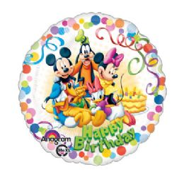 100 Units of AG 18 LC Mickey & Friends Party - Balloons/Balloon Holder