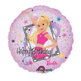 100 Units of AG 18 LC Barbie Sparkle Birthday - Balloons/Balloon Holder