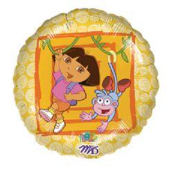 "100 Units of * AG 18"" LC Dora & Boots Balloons - Balloons/Balloon Holder"