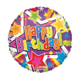 100 Units of CV 18 DS Colorful Stars B-Day Gelli
