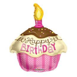 100 Units of CV 18 DS HBD Cupcake Pink - Balloons/Balloon Holder