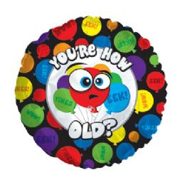 100 Units of CT 17 DS You're How Old Balloons