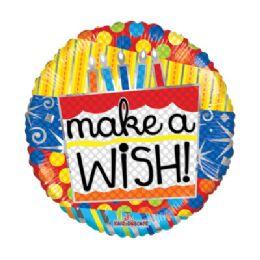 100 Units of CV 18 SS Make A Wish Candles - Balloons/Balloon Holder
