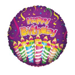 100 Units of CV 18 SS H B-day Candles Purple - Balloons/Balloon Holder