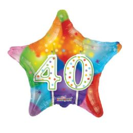 100 Units of CV 18 DV Candles #40 Star - Balloons/Balloon Holder