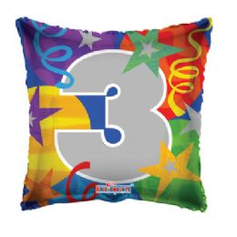 100 Units of CV 18 DS Party #3 Square - Balloons/Balloon Holder