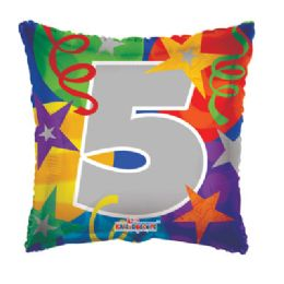 100 Units of CV 18 DS Party #5 Square - Balloons/Balloon Holder
