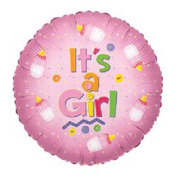 100 Units of CV 18 DS It's A Girl Baby Bottle - Balloons/Balloon Holder